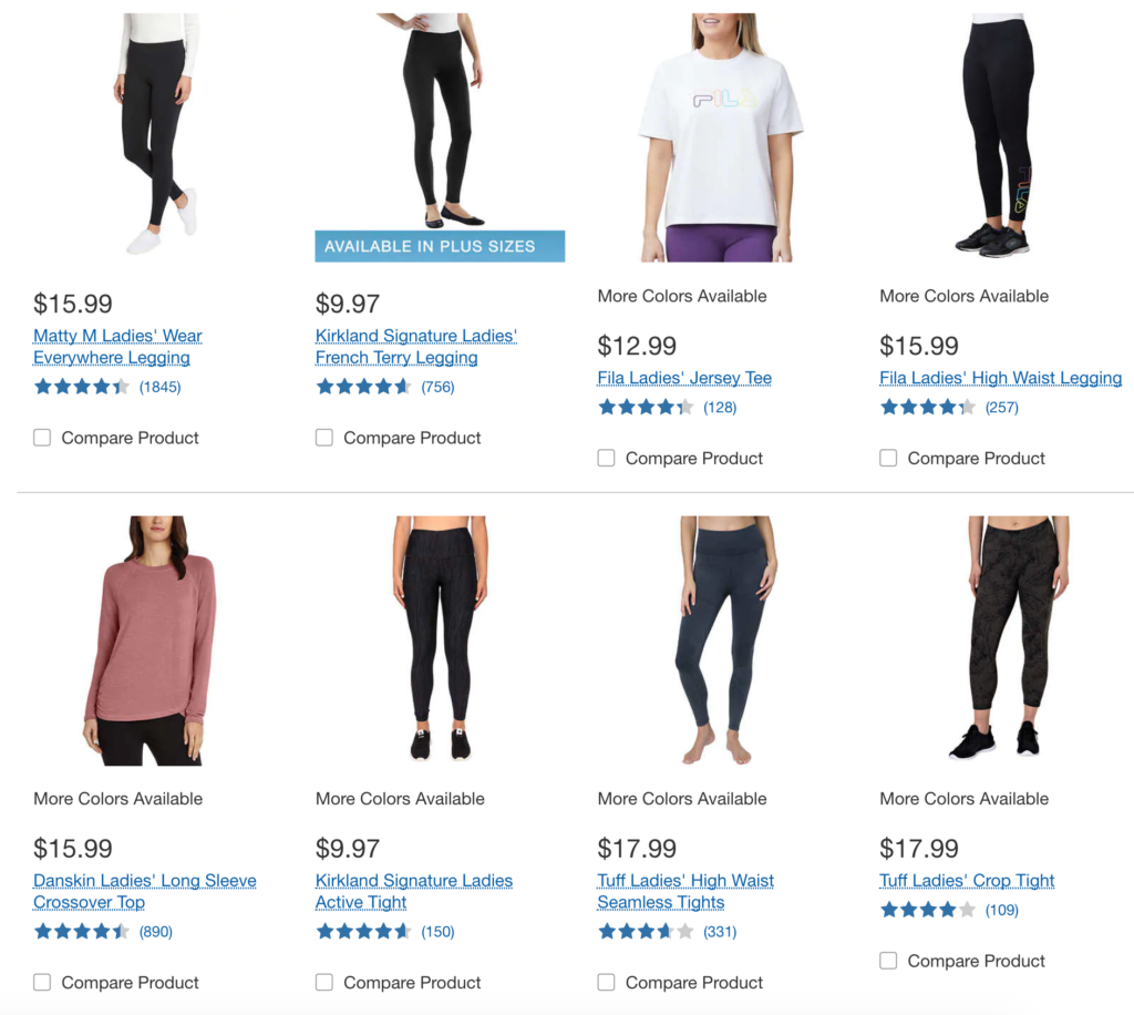 Costco Cheap Workout Clothes For Women