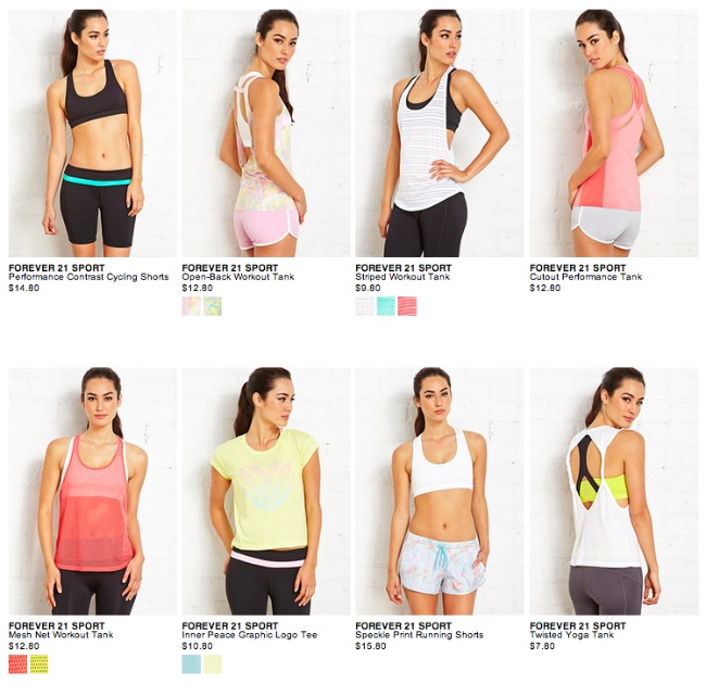 forever 21 cheap workout clothes for women