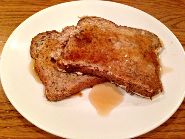 Healthy French Toast Recipe - With Syrup