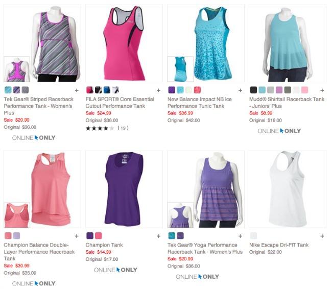 Kohls workout clothes for Women