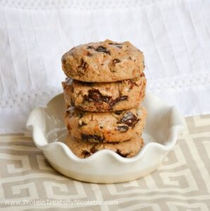 Protein Treats by Nicolette Monster Chocolate Chunk Quest Bar Almond Cookies Recipe