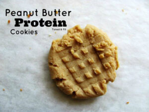 Toned and Fit's Peanut Butter Protein Cookie Recipe