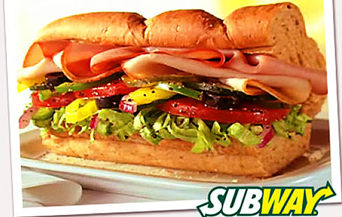 Healthy food at Subway