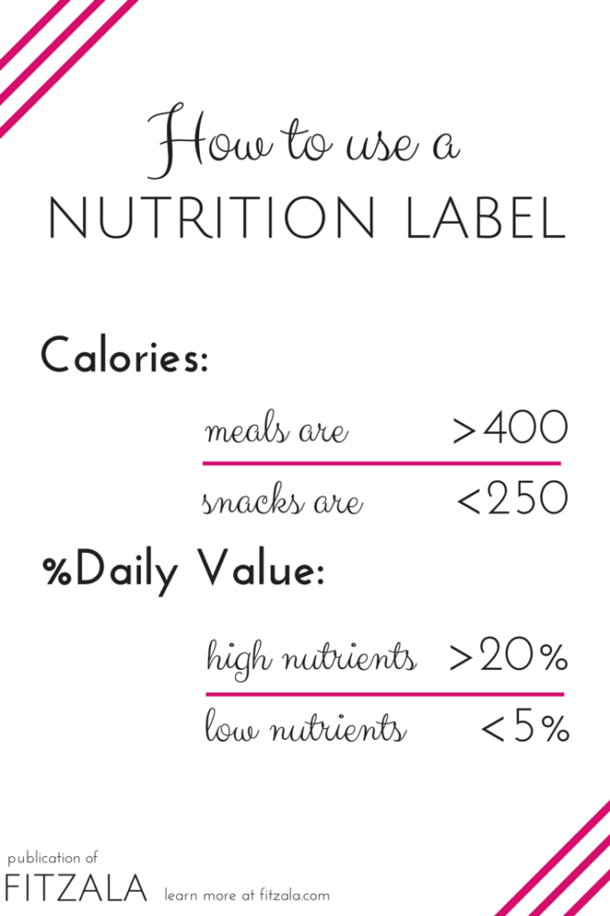 how to use a nutrition facts label